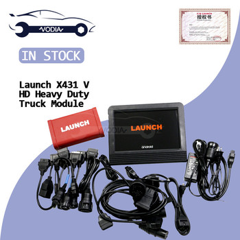 Launch X431 V+&HD Heavy Duty Truck Diagnostic Scanner Tool Universal 2 In 1 12V/24V X431V+ 10.1 inch full system diagnosis tool