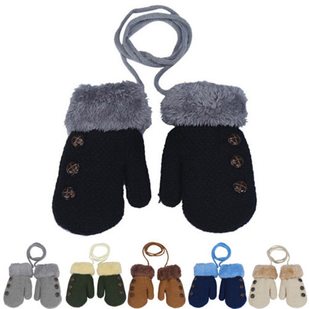 Latest Winter Arm Gloves Style Button Knitted Gloves Supplies High Quality  Hot  Children
