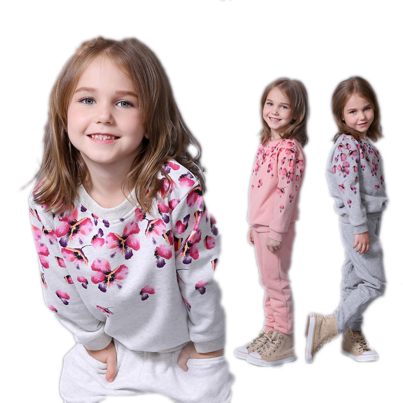 Spring autumn girls clothing set floral kids suit set casual two-piece sport suit for girl tracksuit children clothing uovo brand kids spring autumn new sport shoes for girls green color casual sneakers kids fashion canvas shoe zapatos eu 30 37