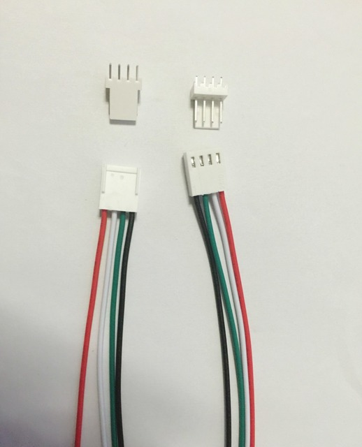 Free Shipping 100x Molex 4pin 2.54mm PCB Connector plug with Wires ...