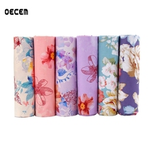 hot deal buy floral design cotton quilting fabric diy apparel sewing patchwork for diy sewing crafts pillows 6pcs/lot o2-6-18