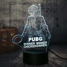 Lustre NEW Cool Battle Royale Game PUBG Winner TPS LED Night Light Desk Lamp RGB 7 Color Boys Kid Toy Home Decor Christmas Gift