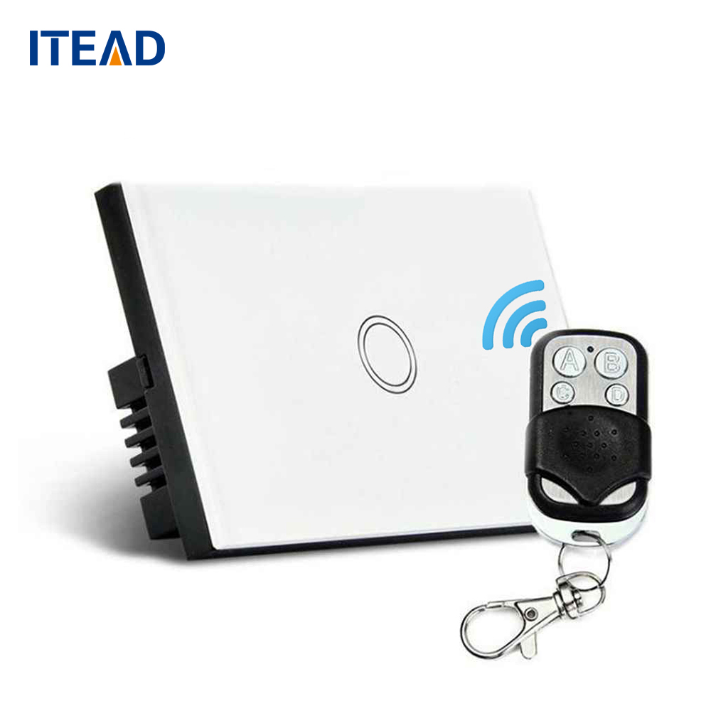 Wall switch Remote Control Light Switch Panel US Sensor On/Off 1 Gang RF433 240V Smart Controller Waterproof Switch wireless wall touch switch control light panel us sensor wifi on off 1 gang rf433 240v smart controller