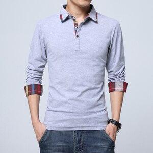 Image 4 - ARCSINX Polo Shirt Men Plus Size 5XL 4XL 3XL  XXL Spring Long Sleeve Polo Men Polo Shirt Autumn Cotton Winter Casual Mens Polos