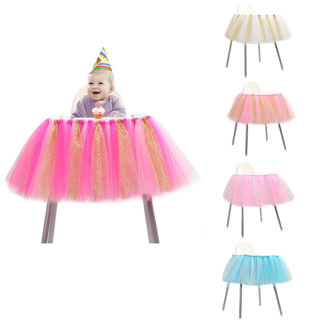 One year old child birthday party chair apron decoration baby chair apron decoration babys best gift on Aliexpresscom Alibaba Group