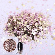 BORN PRETTY 1 Box Shiny Gradient Nail Glitter Sequins Colorful Sparkly Laser Pigment Powder Art Dust Manicure