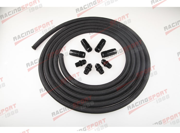 AN6 Nylon cover Racing Performance Automatic Transmission Cooler Line Kit NH 66442 automatic transmission cooler transmission coolertransmission cooler lines - title=