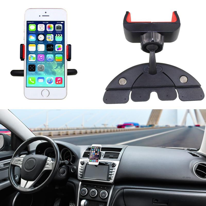 Alloet Universal Car Phone Holder 360 Rotation CD Slot Car Mount Holder Cradle For Samsung Huawei Xiaomi Mobile Phones