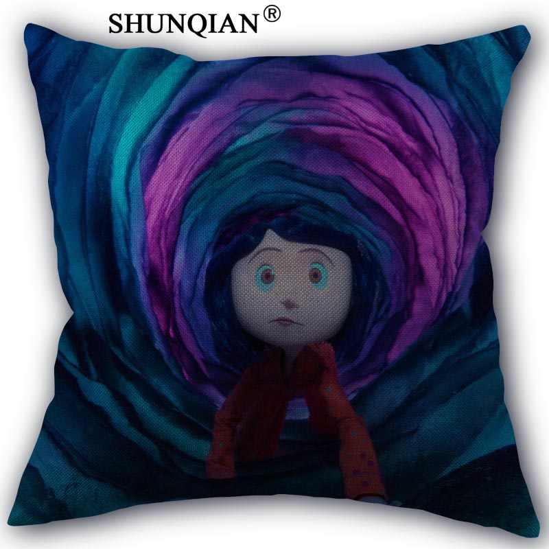 Custom Pillowcase coraline High Quality Home textile Cotton Linen One Side Hot Sale Pillow Covers 45x45cm