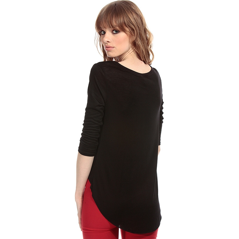 HDY Haoduoyi 2018 Fashion Women Sexy Solid Black Cropped T Shirt Casual Letter Print Tops Cut Out O neck Slim Summer T Shirt in T Shirts from Women 39 s Clothing