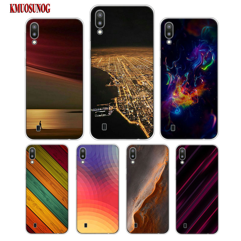 Transparent Soft Silicone Phone Case Abstract and Geometric for Samsung Galaxy S10 S10e S10 Plus S10 M10 M20 Cover in Fitted Cases from Cellphones Telecommunications