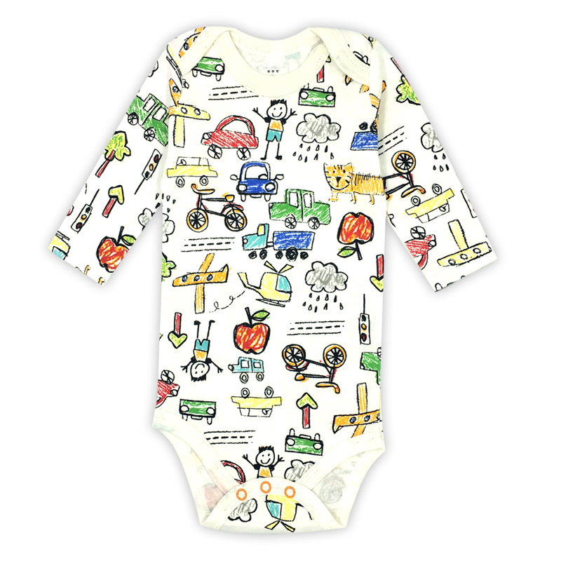 Pasgeboren baby jongens kleding 100% katoen met lange mouwen bodysuit - Babykleding - Foto 3