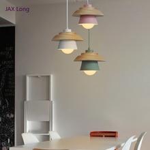 цена Nordic Loft LED Wood Pendant Lights Modern Bedside Bedroom Decor Iron Pendant Lamps Restaurant Corridor Hanging Lamps Lighting онлайн в 2017 году