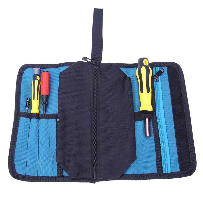Storage Reels Tools Bag Reels Utility Bag Multifunction Oxford Canvas Package Pocket Pouch Toolkit Electrical Tool Package