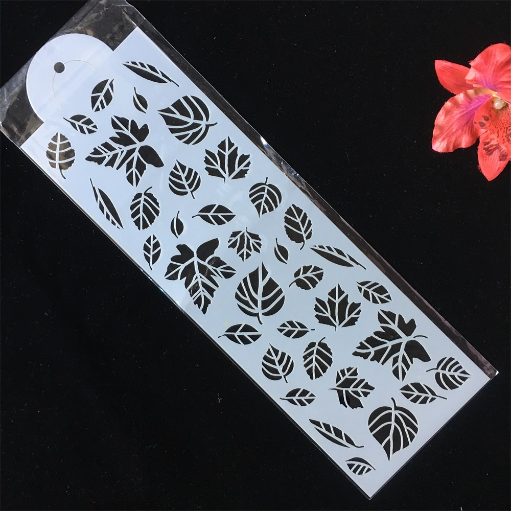 32cm Tree Leaves Long DIY Craft Layering Stencils Wall Painting Scrapbooking Stamping Embossing Album Card Template