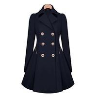 Rosetic Vintage Trench CoatsWomen Autumn Blue Elegant Office Ladies Work Formal Winter Windbreaker Cotton Coat Overcoats
