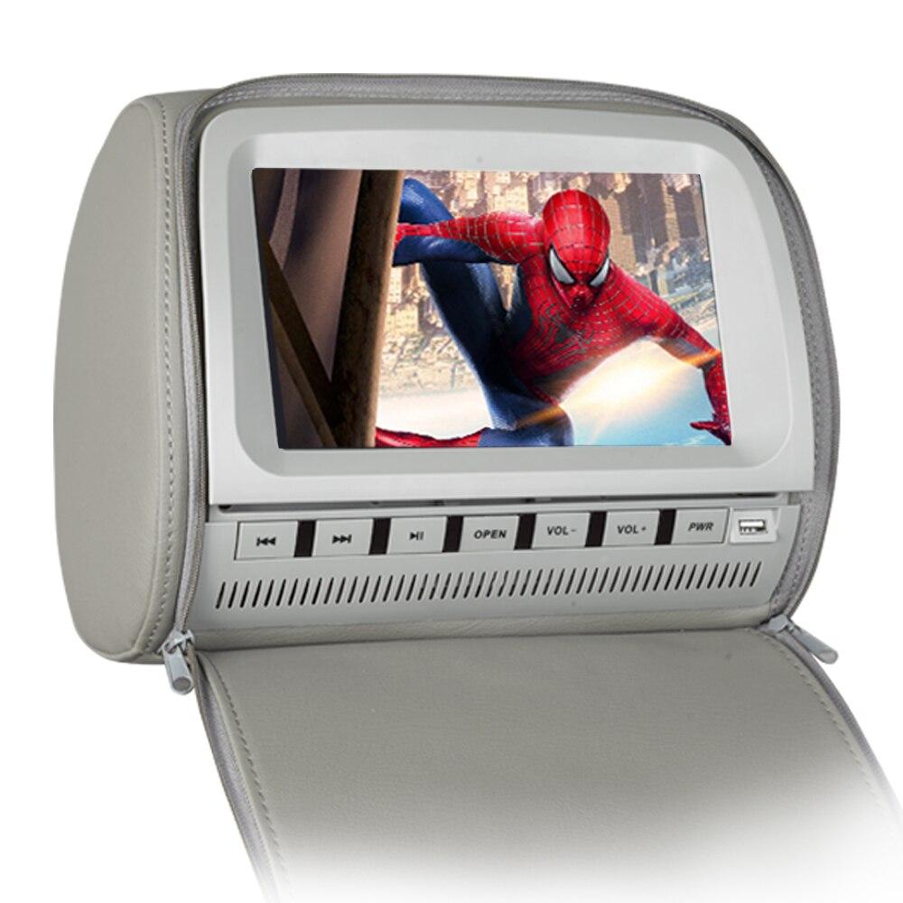 9 pouces FHD appuie-tête DVD avec FM/IR/USB/SD/jeu sans fil/fermeture à glissière (2 pièces)