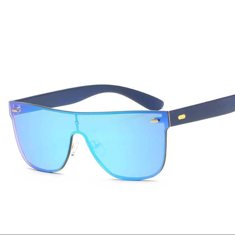 179fa133f0 Retro Men s Goggle Glasses Color One Piece Lens Square Sunglasses For Women  Shades Men Drive Fashion