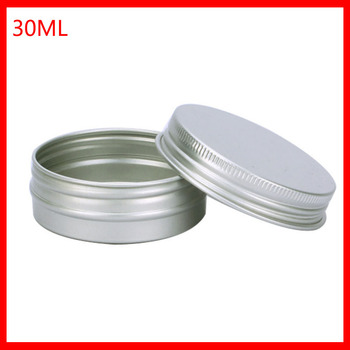 30g aluminum jar, 30 gram metal cream jar, 1 oz silver aluminum tin, 30 g metal cosmetic container 100pcs/lot