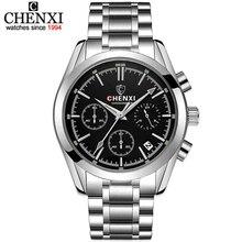 CHENXI Hombres Cronógrafo Relojes de Lujo Famosa Marca de Relojes de Acero Relojes de Los Hombres de Negocios Hombre Clcok Cuarzo reloj Relogio masculino