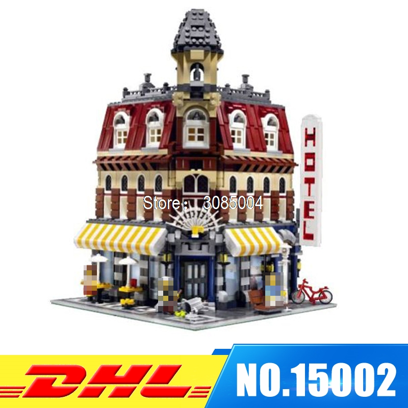 DHL Fast Shipping LEPIN 15002 2133PCS Cafe Corner Model Building Blocks Bricks Develop intelligence Toys Compatible With 10182 lepin 15002 cafe corner model 2133pcs building kits blocks kid diy educational toy children day gift compatible 10182
