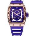 Skone moda oco relógio silicone strap esporte relógios dos homens para o sexo masculino projeto especial relógios de pulso de quartzo relogio masculino novo