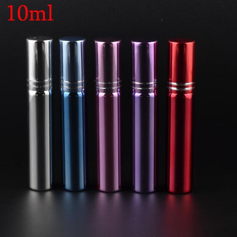 MUB - 5PCS 10ML glaspåfyllningsbar parfymflaska med metallspray och - Hudvårdsverktyg