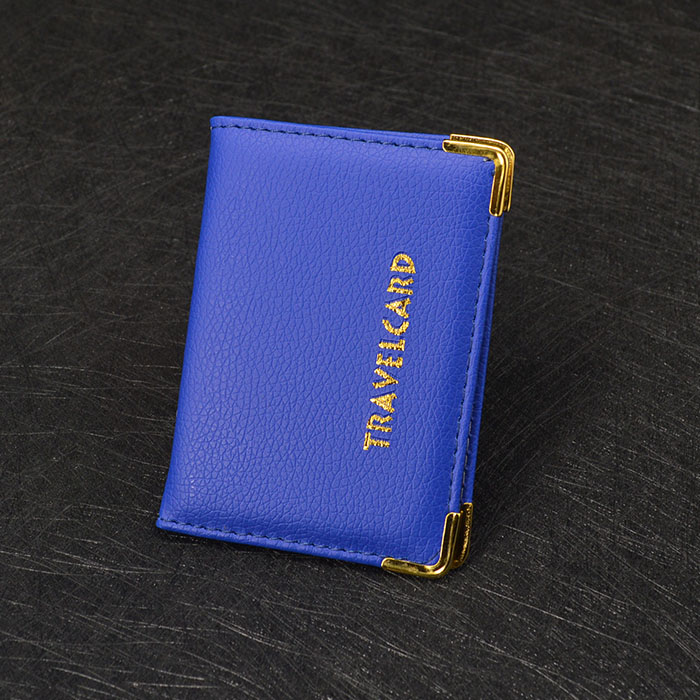 Hot Sale Ladies Travel Card Holder Wallet for Bus Id Bank Card Cute Leather Card Id Holders Blue Wallet for Credit Cards hot sale 2015 harrms famous brand men s leather wallet with credit card holder in dollar price and free shipping