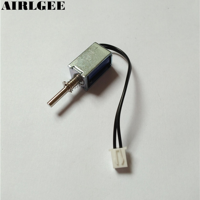 High quality DC 12V 80g/3mm Open Frame Actuator Linear Push Pull Solenoid Electromagnet Free shipping