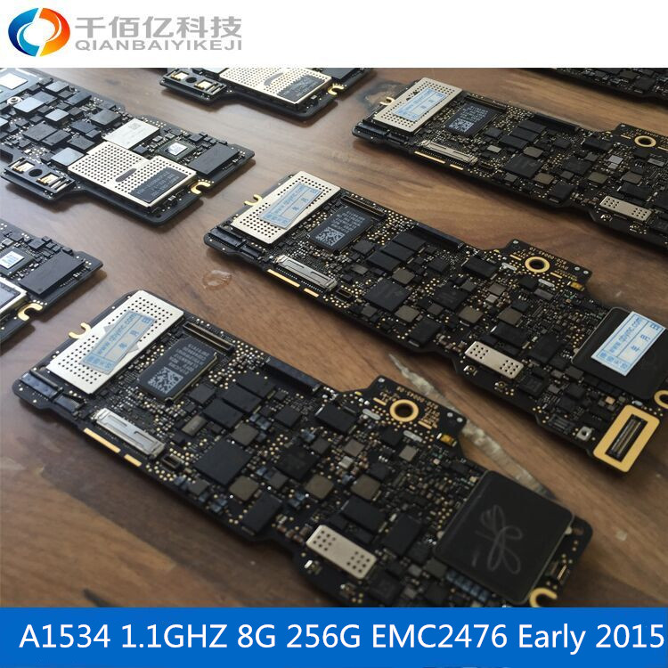Laptop Mother board A1534 Logic board For MacBook 12' MF855 8G 1.1Ghz Early 2015 for macbook dc power jack 12 a1534 2015 usb c connector board mf855 mf865