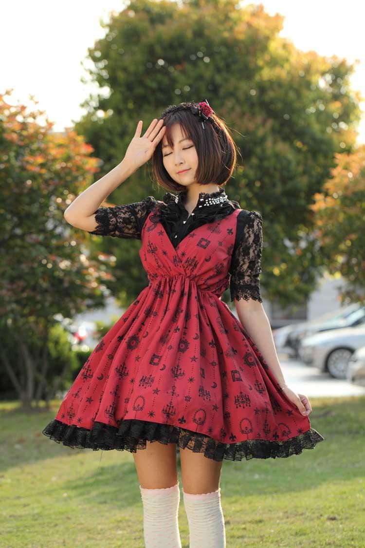 Jsk Lolita Cute Lolita Costume Japanese Style Lovely Print