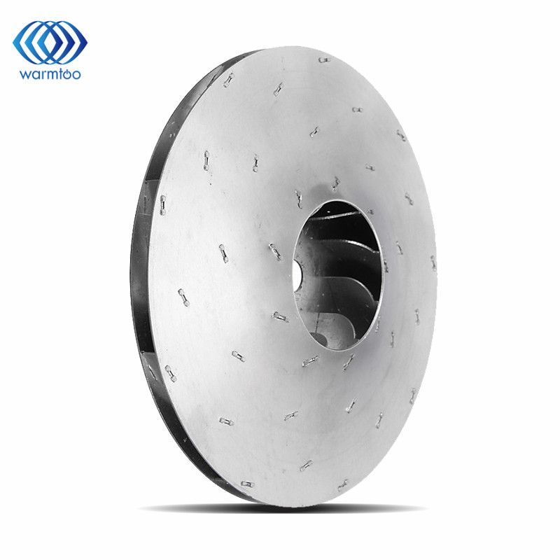 Different Qaulity Aluminum Vacuum Cleaner Motor Fan Blade 112mm 8mm Hole Wind Wheel Impeller Brand New 125mm flat aluminum fan blade impeller vacuum cleaner motor parts flat shape 8mm hole