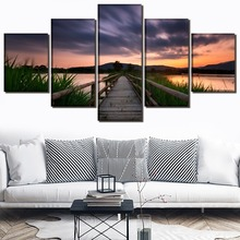 805beb467299e Buy 5 piece sunset canvas art set and get free shipping on ...