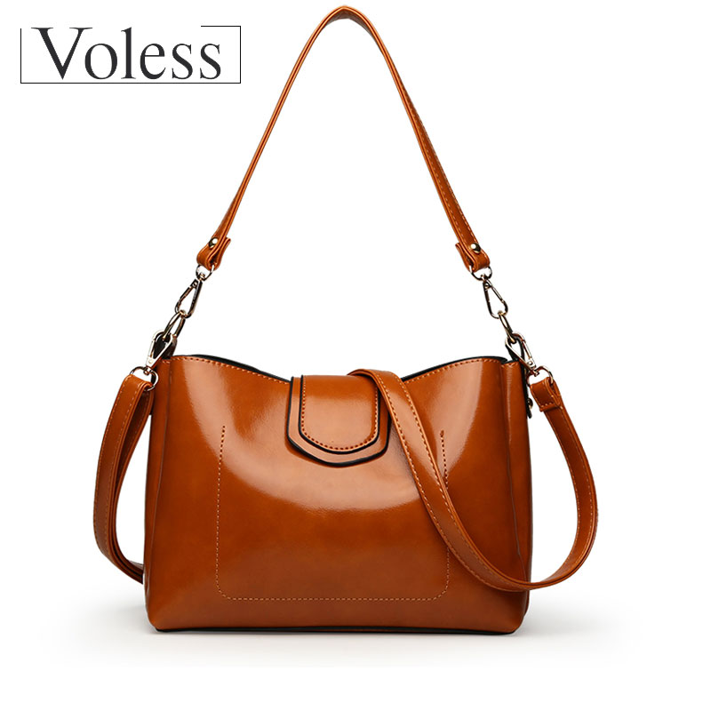 VOLESS Women Shoulder Bags High Quality PU Leather Women Handbag Vintage Crossbody Bag Women Casual Shoulder Bag Bolsa Feminina casual shoulder crossbody bags for women 2018 pu leather shoulder bag black gray red fashion simple womens bag high quality