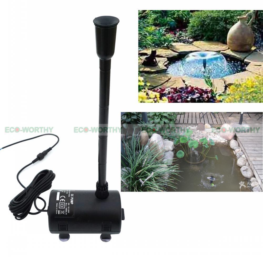 Solar Power Submersible Fountain Pump Garden Decor Pond Brushless Watering Kit