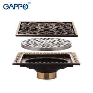 Image 3 - GAPPO desagües para el suelo del baño, tapón de baño de 12x12cm, cubiertas para el orificio del fregadero, cubierta de drenaje de ducha, cubierta de drenaje de suelo, ducha de baño
