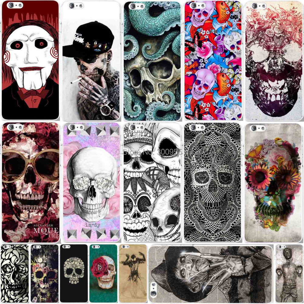 Phone Cases iPhone 6 Plus 5.5 inch Retro Skull Ghost Patterned Hard PC Cell Back Cover Shell Skin WHD1129 1-22 - poplar1115 store