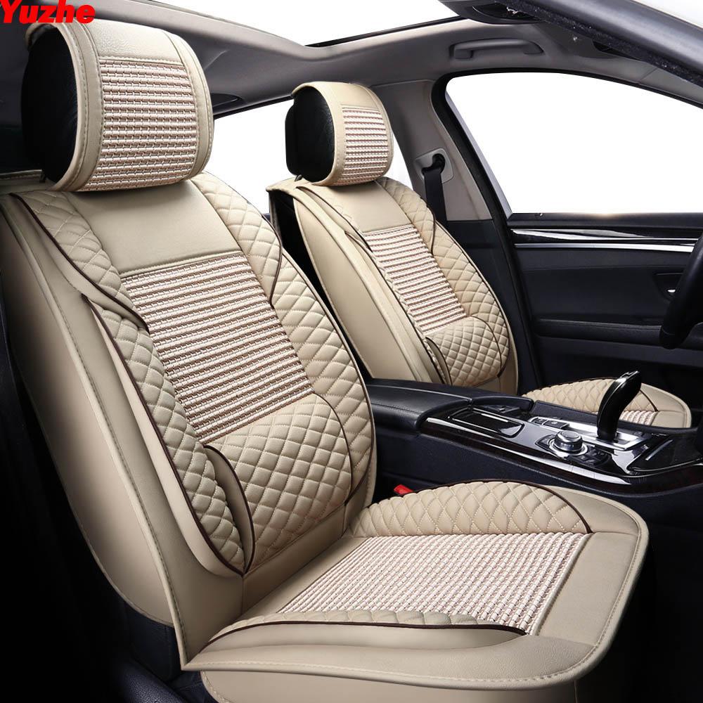Yuzhe автомобилей Кожа универсальный авто сиденья для citroen c5 c4 Xsara Picasso Berlingo c elysee автомобильные аксессуары сиденье