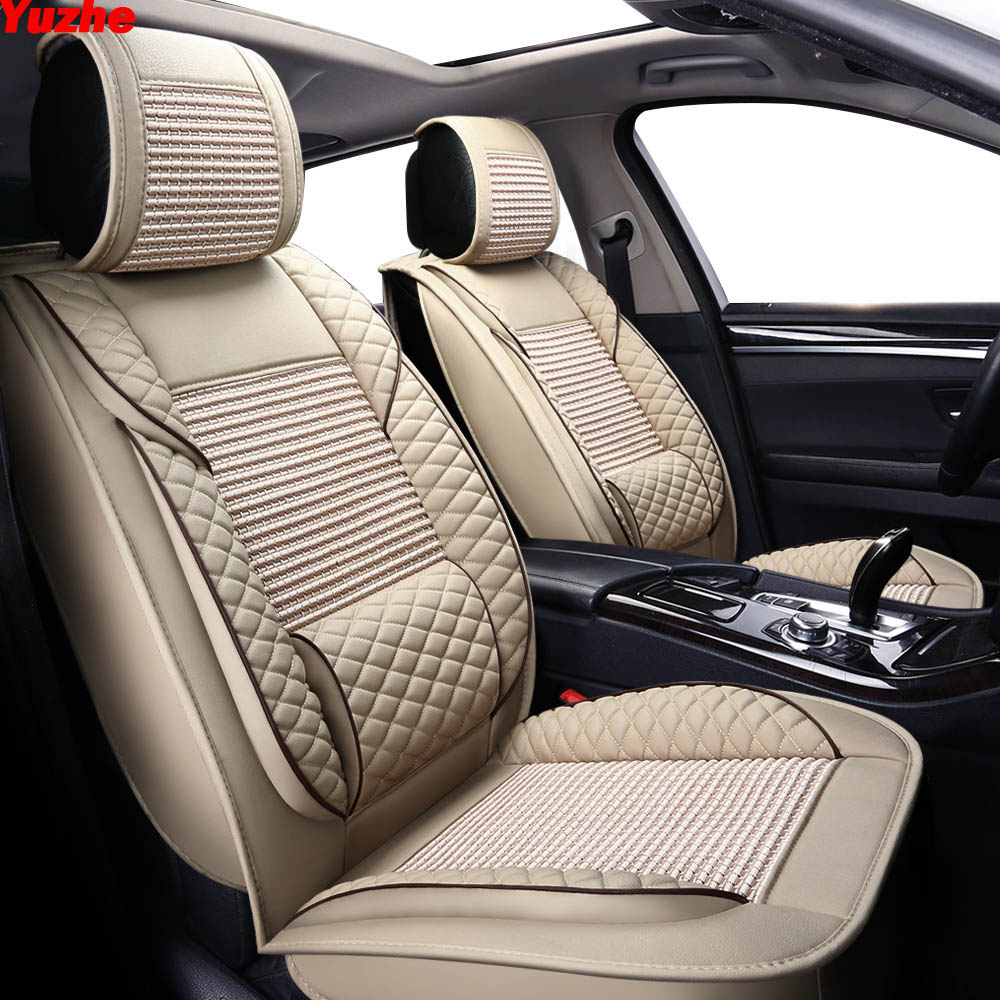 Yuzhe automobiles Leather Universal Auto car seat cover For citroen c5 c4 xsara picasso berlingo c elysee car accessories seat