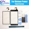 Poder Ulefone Toque Digitador Toque Substituição Do Painel de Vidro Digitador Da Tela 100% de Garantia Original Para Ulefone Poder + Ferramentas