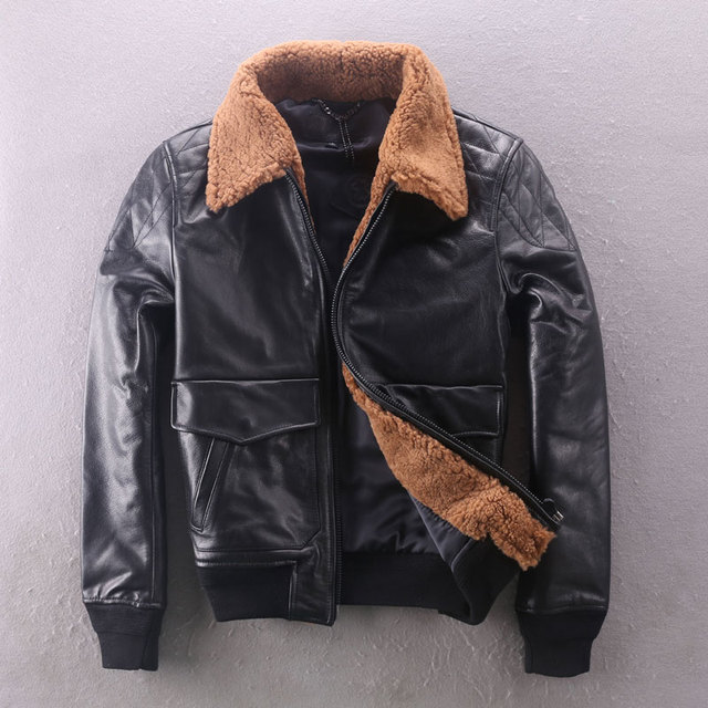 Aliexpress.com : Buy 2017 natural lamb fur collar cow leather ...