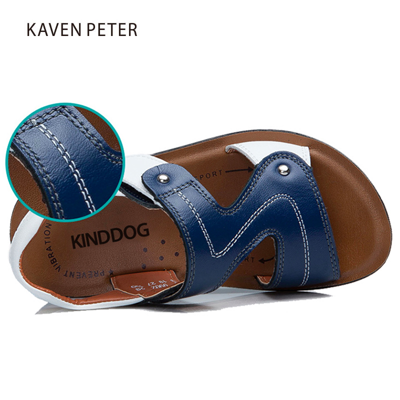 Image 3 - 2018 childrens summer genuine cow leather beach sandals baby fat casual sandals boys shoes Orthopedic footwear for kids-in Sandals from Mother & Kids on AliExpress