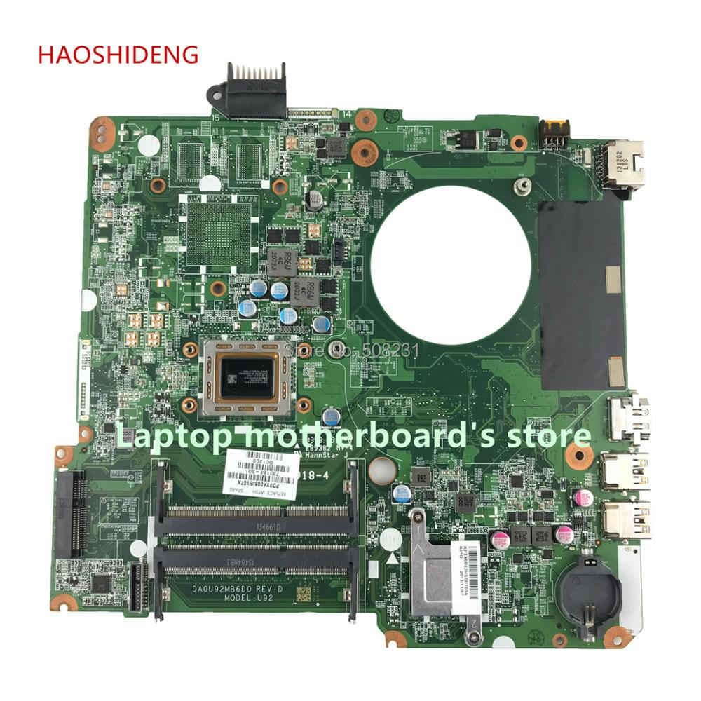 HAOSHIDENG 738124-501 738124-001 U92 DA0U92MB6D0 REV:D for HP PAVILION 15-N laptop motherboard with A76M A10-5745M fully Tested ytai a10 4655m for hp pavilion 15 15 n laptop motherboard 737138 501 737499 501 a10 4655m cpu da0u92mb6d0 mainboard fully tested