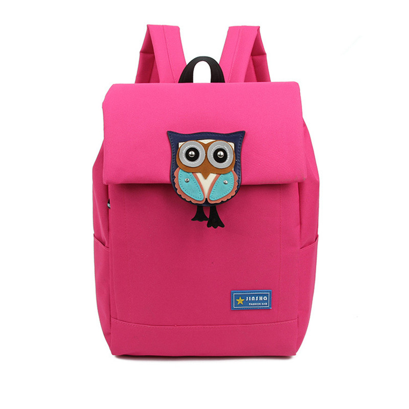 2016 Rucksacks Women Canvas Cartoon Cute Owl Schoolbag Rucksack Backpacks Travel Package Shoulder Bags Computer Bag hot fashion design personality little bear women backpacks cute character shapes cartoon girls schoolbag casual shoulder bag