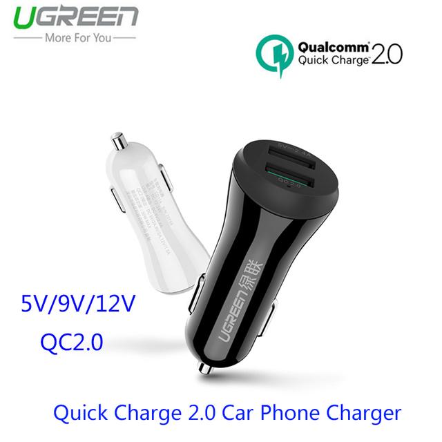 Ugreen i7 carga rápida 2.0 carregador de telefone do carro para samsung galaxy s6 borda qc2.0 rápida carregador de carro usb para iphone 7 plus huawei p9