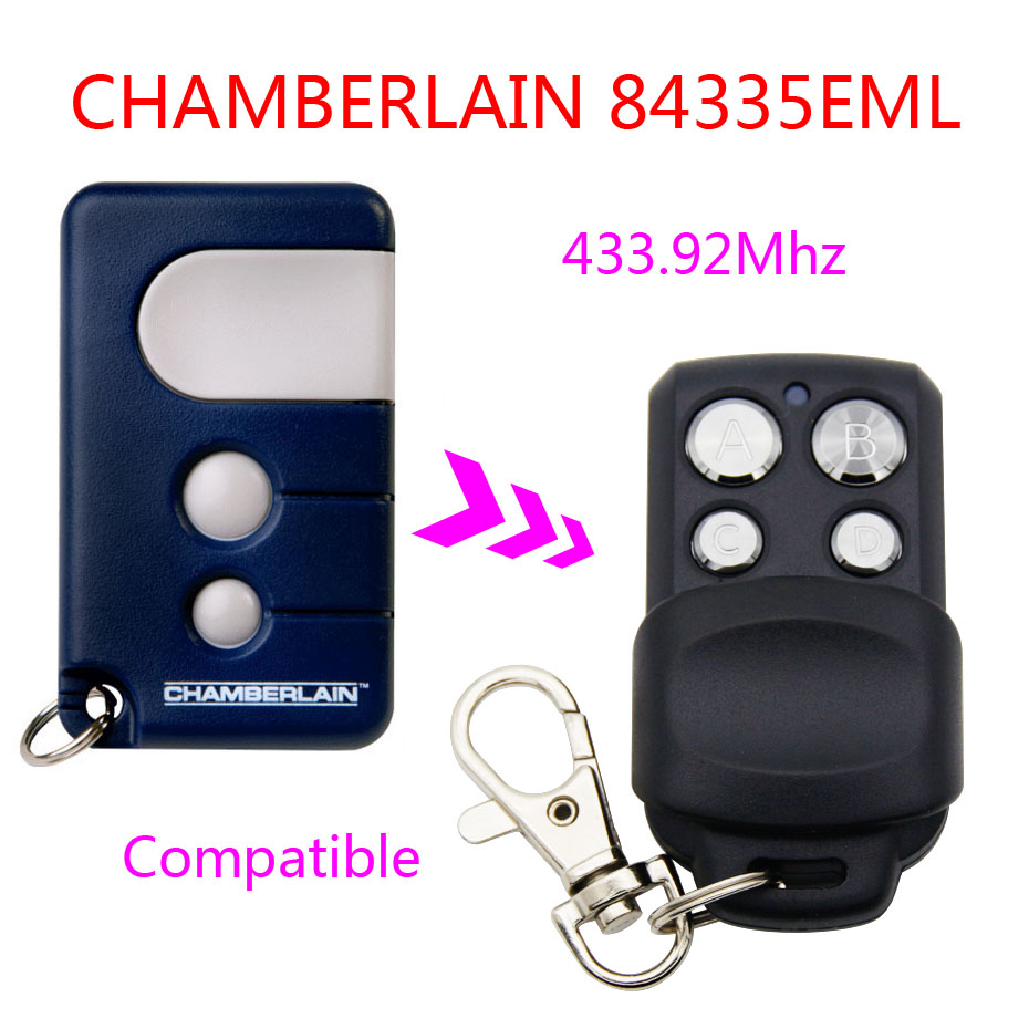 Copy CHAMBEERLAIN <font><b>84335EML</b></font> remote control duplicator universal gate garage 433.92mhz learning remote control CHAMBEERLAIN image