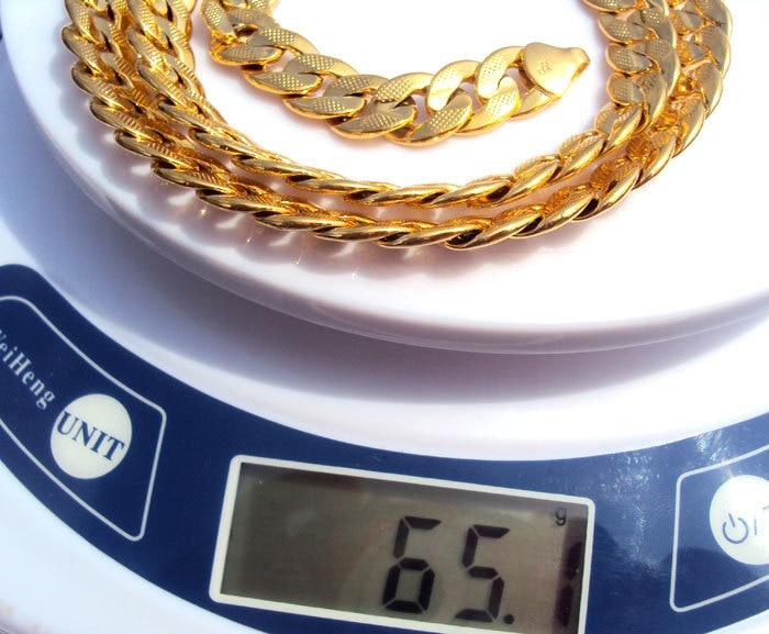 24K Solid Gold GF reale e dyanshme me rërë sekuence Kubani i - Bizhuteri të modës - Foto 6