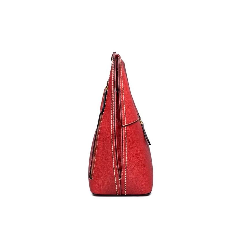 Main Bandoulière En Mariage 3d Véritable À Cuir Noir Femme Dames Vache Rouge Unique Designer Pochette rouge Vintage Rose Pour Une Sac PZTOXiku