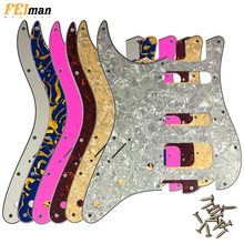 Pleroo Left Handed pickguards 11 Screw Holes for Standard St Stratocaster HSS Guitar Scratch Plate parts 100% brand new