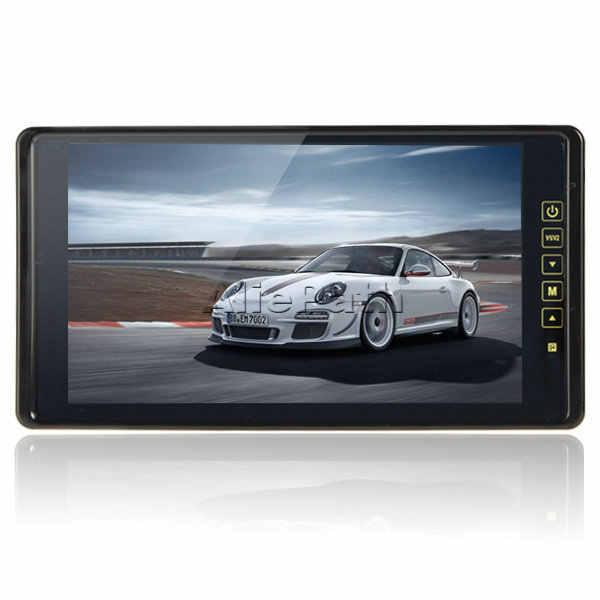 العلامة التجارية الجديدة وقوف السيارات الرؤية الخلفية عكس الشاشة مع 2 إخراج الفيديو PAL/NTSC ، 9 بوصة TFT LCD HD شاشة كبيرة جدا تعمل باللمس